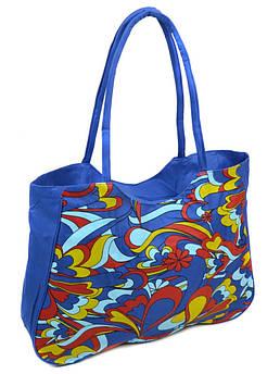 Сумка Женская Пляжная текстиль /1323 blue синий