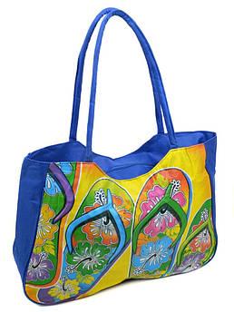 Сумка Женская Пляжная текстиль /1327 blue синий