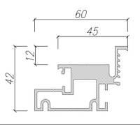 Профиль для дверей скрытого монтажа Dimir: 60*42 ММ
