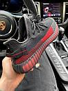 Чоловічі кросівки Adidas Yeezy Boost 350 V2 Black\Red, фото 6