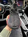 Чоловічі кросівки Adidas Yeezy Boost 350 V2 Black\Red, фото 7