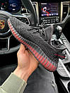 Мужские кроссовки Adidas Yeezy Boost 350 V2 Black\Red, фото 8