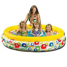 Детский надувной бассейн Веселая геометрия 58449 размер 168-41см