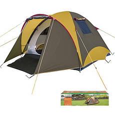 Палатка кемпинговая, усиленная, трехместная для отдыха