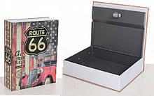 Книга-сейф MK 1847-1 на ключе (Шоссе 66)