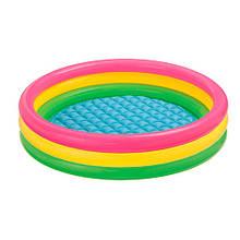 Детский надувной бассейн Веселые колечки 57412, 114-26 см
