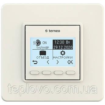 Терморегулятор программируемый terneo pro (cлоновая кость), программатор для теплого пола
