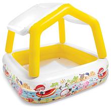 Детский надувной бассейн 57470 со съемной крышей 157-122 см