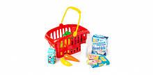 """Игровой набор """"Супермаркет"""" корзинка с продуктами 362B2, 3 цвета (Красный)"""