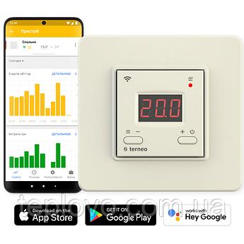Терморегулятор програмований terneo ax Wi-Fi (слонова кістка), програматор для теплої підлоги