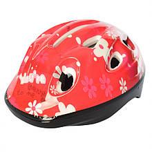 Детский шлем MS 1955 для катания на велосипеде (Красный)