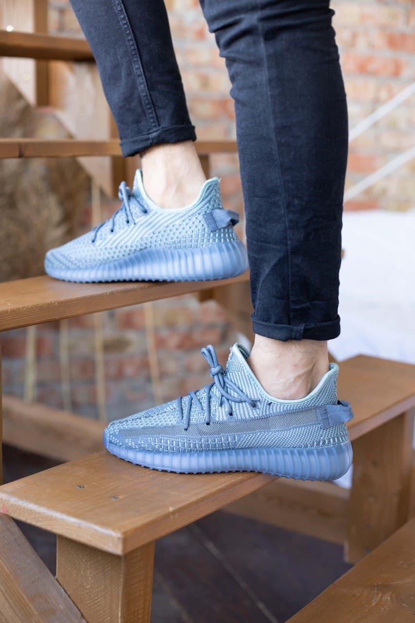 Мужские кроссовки Adidas Yeezy Boost 350 v2 Grey Blue