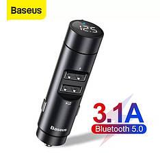 Автомобильный FM трансмиттер Baseus Energy Column Car Wireless BS-01 + зарядка 2USB 3.1A музыка MP3 с USB