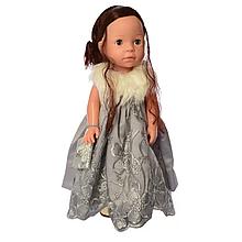 Кукла для девочек в платье M 5413-16-2 интерактивная (Silver)