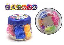 """Детская вязкая масса, слайм """"Rainbow Fluffy Slime"""" RFS-01-01U с воздушным пластилином"""