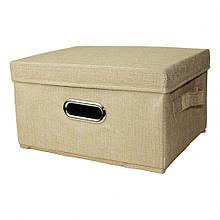 Ящик/пуфик для игрушек MR 0339-1, 32/25/18 см  (Бежевый)