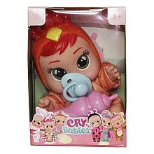 Маленькая кукла Cry Babies CRB 655 с аксессуарами (Оранжевый)
