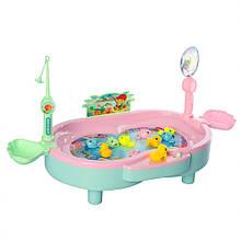 Игровой набор Магнитная рыбалка 383 с ванночкой (Розовый )