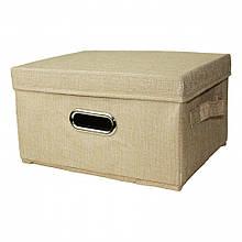 Коробка - пуфик для игрушек MR 0339-4 с ручками (Бежевый)