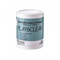 Строительная краска интерьерная, водоэмульсионная, акриловая, матовая ФАСОВКА IVC PlayClean 0,9 к, КОД:
