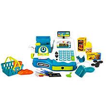 Игровой набор Кассовый аппарат 35535AB с продуктами (Синий)