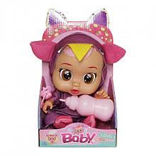 Кукла для девочек CRB 3360 с бутылочкой и соской (Фиолетовый)