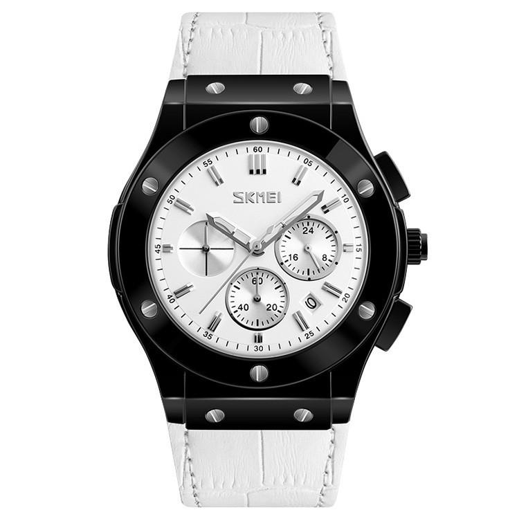 Skmei 9157 белые мужские классические часы