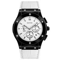 Skmei 9157 белые мужские классические часы, фото 1