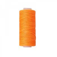 Нить вощеная плоская 1мм (100м) оранжевая