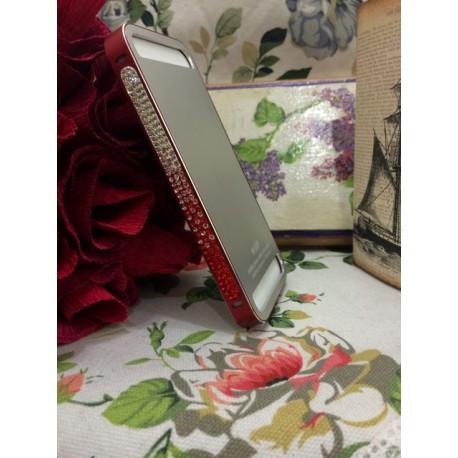 Металлическая накладка NEWSH для iPhone 5/5S Красная