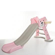 Детская горка HF-H008-8 розовая
