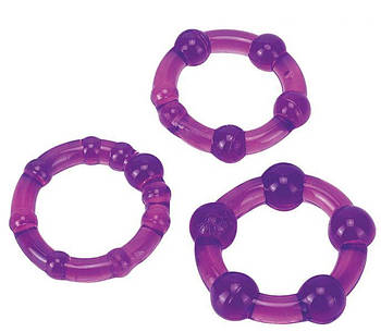 Набор эрекционных колец Ultra Soft & Stretchy Pro Rings, PURPLE