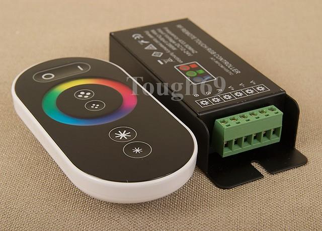 RF RGB контролер сенсорний DDH-TC5 радіо, з пультом для світлодіодної стрічки.