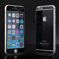Защитная пленка для айфон 6 стеклянная colorful Черная