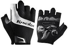 Перчатки для велосипеда  безпалые с гелевыми вставками Kyncilor P0001 черные