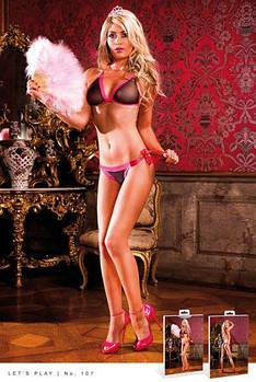Комплект Black-Hot Pink Bikini Set With Lacing