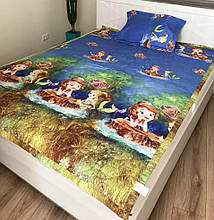 Дитяче стьобане покривало на ліжко 160*210