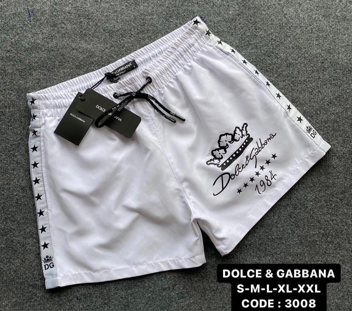Чоловічі пляжні шорти Dolce&Gabbana CK2680 білі