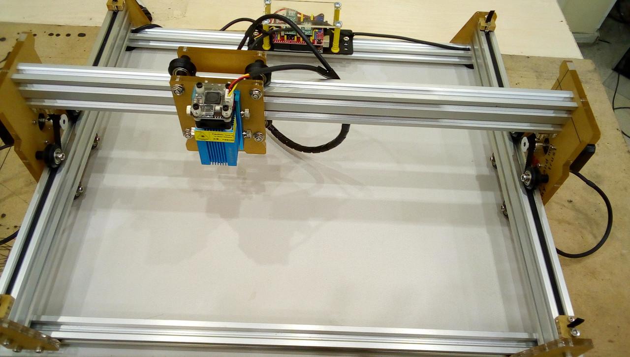 Лазерний гравер 5,5 Вт, гравер з ЧПУ, лазерний верстат, гравірувальний верстат. Поле 50*50 см