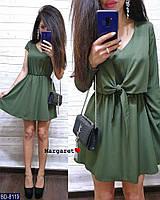 Костюм женский красивый на лето платье клеш и рубашка-накидка 42-44,44-46 арт 8122