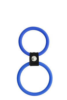 Подвійне кільце MENZSTUFF DUAL RINGS, BLUE