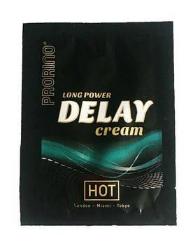 Подовжує крем Prorino long power Delay cream (пробник), 3 мл