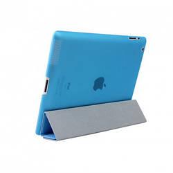 Smart Cover + пластиковая накладка  для iPad Air 2 Голубая