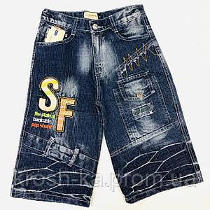 Шорты для мальчика (134-140)р джинсовые чёрный Китай 88957