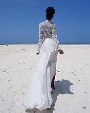 Сукня пляжне довга біла туніка, фото 2