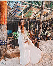 Сукня пляжне довга біла туніка, фото 3