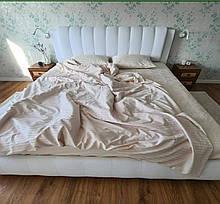 Комплект постельного белья полуторный страйп сатин
