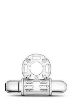 Эрекционное виброкольцо STAY HARD VIBRATING MEGA BULL RING CLEAR