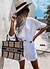 Женский костюм,шорты и кофта,Ткань:лён,легкий высокого качества  (42-48)