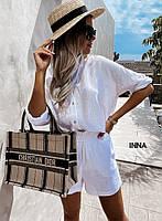 Женский костюм,шорты и кофта,Ткань:лён,легкий высокого качества  (42-48), фото 1